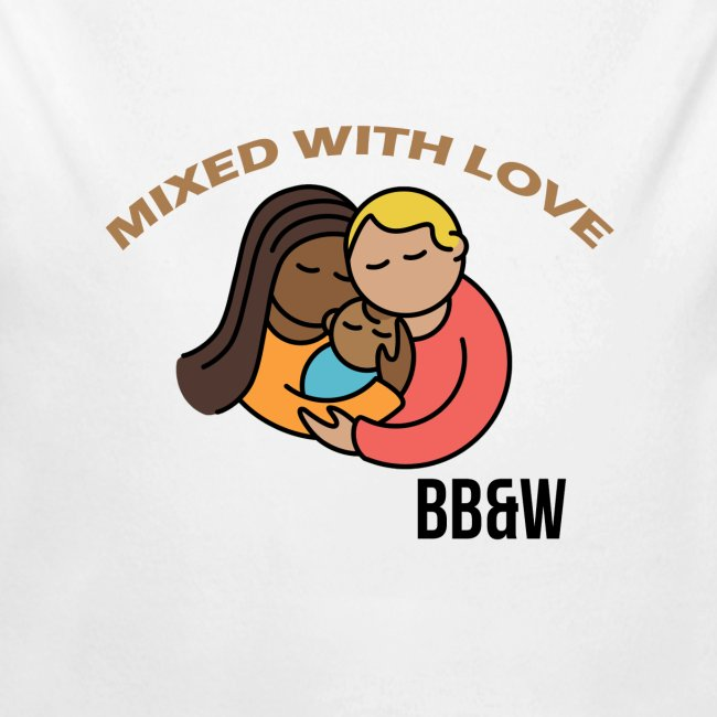 mixed with love Long Sleeve Baby Bodysuit