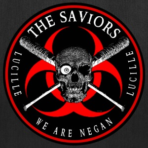 Biohazard The Saviors We Are Negan Ring Patch R Bags & backpacks - Tote Bag