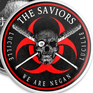 Biohazard The Saviors We Are Negan Ring Patch R Buttons - Large Buttons