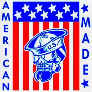 American Made Skull Flag Sailor   - Men's Premium T-Shirt