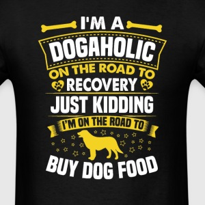 Flat Coated Retriever Dogaholic T-Shirt T-Shirts - Men's T-Shirt