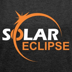 SOLAR ECLIPSE II - Women´s Rolled Sleeve Boxy T-Shirt