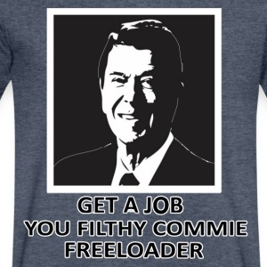 Ronal Reagan - Get a Job! T-Shirts - Men's V-Neck T-Shirt by Canvas