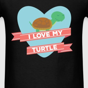 Turtle - I love my turtle - Men's T-Shirt