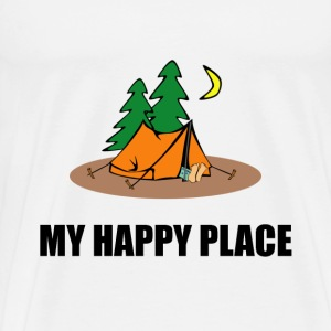 My Happy Place Camping Tent - Men's Premium T-Shirt