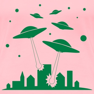 Ufo attack Invasion - Women's Premium T-Shirt