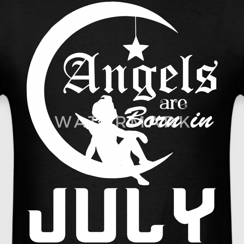 Angels are Born in July - Men's T-Shirt