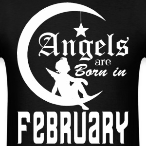 Angels are Born in February - Men's T-Shirt