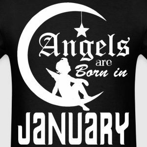 Angels are Born in January - Men's T-Shirt