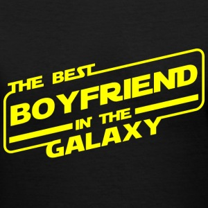 Best Boyfriend In Galaxy T-Shirts - Women's V-Neck T-Shirt
