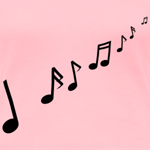Musical notes - Women's Premium T-Shirt