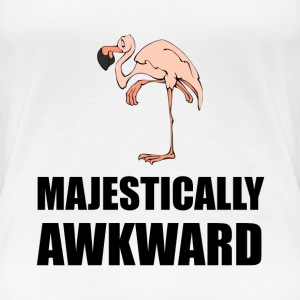Majestically Awkward Flamingo - Women's Premium T-Shirt