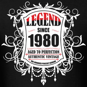 Legend since 1980 Aged to Perfection Authentic Vin - Men's T-Shirt