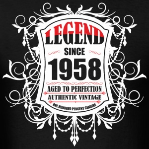 Legend since 1958 Aged to Perfection Authentic Vin - Men's T-Shirt