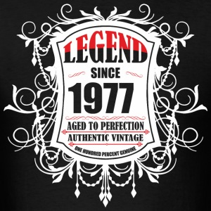 Legend since 1977 Aged to Perfection Authentic Vin - Men's T-Shirt