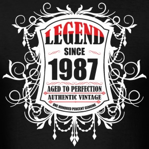 Legend since 1987 Aged to Perfection Authentic Vin - Men's T-Shirt
