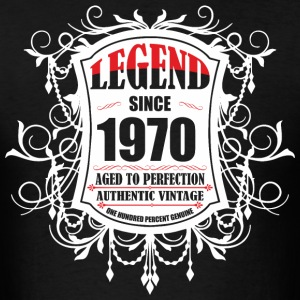 Legend since 1970 Aged to Perfection Authentic Vin - Men's T-Shirt