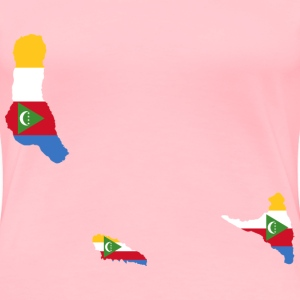 Comoros Flag Map - Women's Premium T-Shirt
