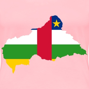 Central African Republic Flag Map - Women's Premium T-Shirt