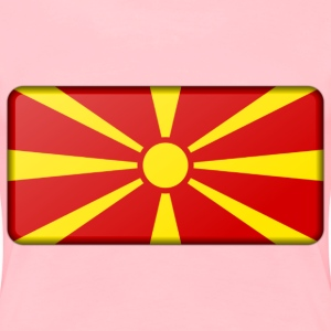 Macedonia flag (bevelled) - Women's Premium T-Shirt