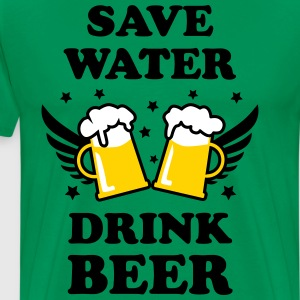Save Water Drink Beer Design men's Party T-Shirt - Men's Premium T-Shirt
