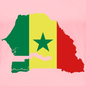 Senegal Flag Map - Women's Premium T-Shirt