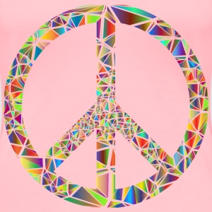 Low Poly Shattered Peace Sign No Background - Women's Premium T-Shirt