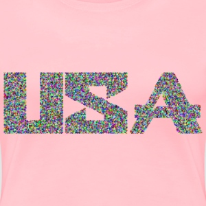 Prismatic USA Typography Mark II Cubes Mosaic - Women's Premium T-Shirt