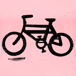 Bicycle Sign on Road - Women's Premium T-Shirt