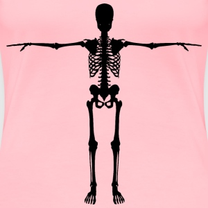 Skeleton With Arms Out Silhouette - Women's Premium T-Shirt