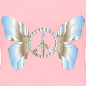 Groovy Peace Sign Butterfly 12 - Women's Premium T-Shirt