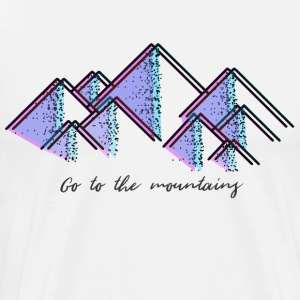Go to the mountains - Men's Premium T-Shirt