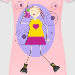 Mobile Chat - Women's Premium T-Shirt