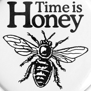 Time is Honey Beekeeper Buttons - Large Buttons