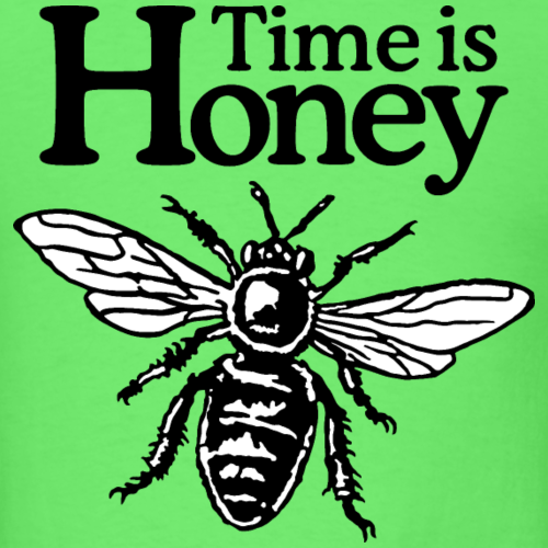 Time Is Honey Beekeeper Quote Design (two-color)