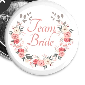 (team_bride_rose_wreath) Buttons - Large Buttons