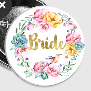 (bride_bouquet) Buttons - Large Buttons
