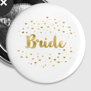 (bride_gold_heart) Buttons - Large Buttons