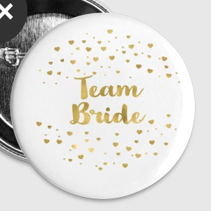 (team_bride_gold_heart) Buttons - Large Buttons