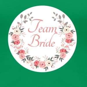 (team_bride_rose_wreath) T-Shirts - Women's Premium T-Shirt