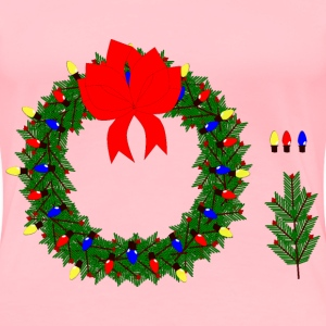 Christmas Wreath 2015 - Women's Premium T-Shirt