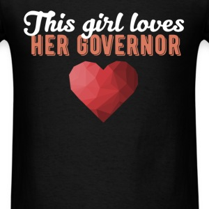 Governor - This girl loves her Governor - Men's T-Shirt