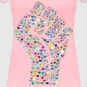 Colorful Fist Of Love 6 - Women's Premium T-Shirt