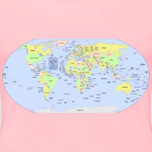 World Political Map - Women's Premium T-Shirt