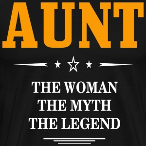 Aunt They Woman The Myth The Legend Shirt  - Men's Premium T-Shirt