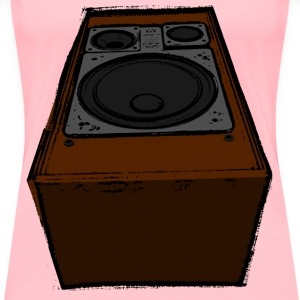 Big old speaker (colour) - Women's Premium T-Shirt