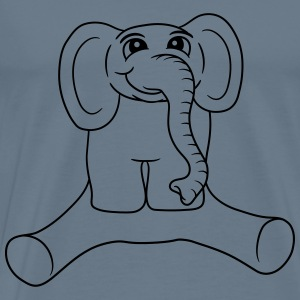 Sitting dick little sweet baby elephant child cute T-Shirts - Men's Premium T-Shirt
