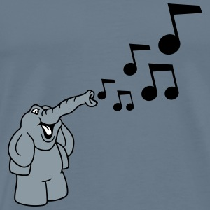 Music notes melody party dancing solicitude small  T-Shirts - Men's Premium T-Shirt