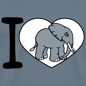 Love, i love, love, elephant, small, cute, cute, b T-Shirts - Men's Premium T-Shirt