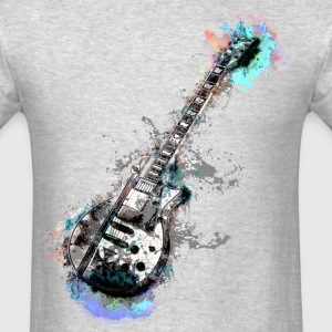Guitar Watercolor - Men's T-Shirt